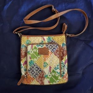Fossil Patchwork Leather Crossbody Bag